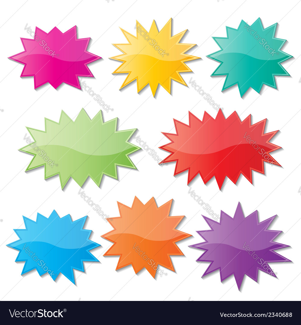 Starburst speech bubbles vector image