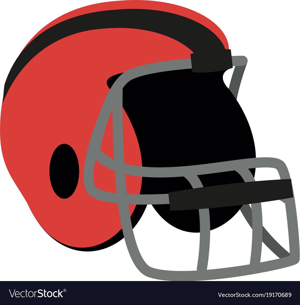 american football helmet royalty free vector image rh vectorstock com american football helmet vector free