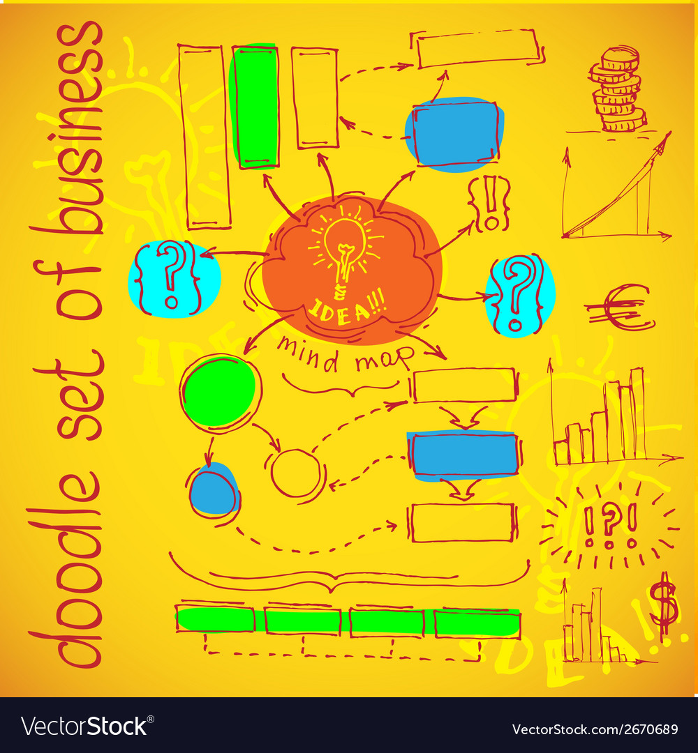 Infographics flowchart Doodle vector image
