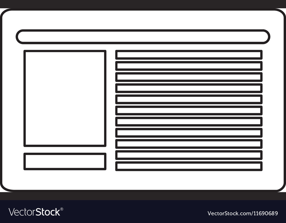 Isolated newspaper design vector image