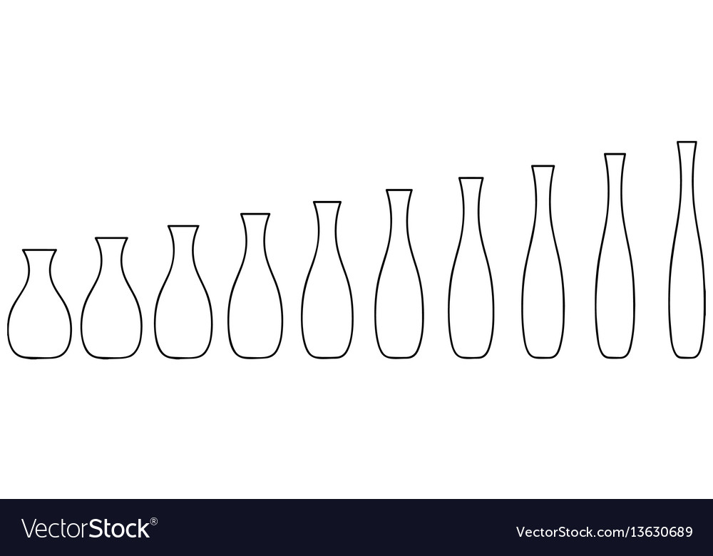 Pottery stages of manufacturing from pot to vase vector image