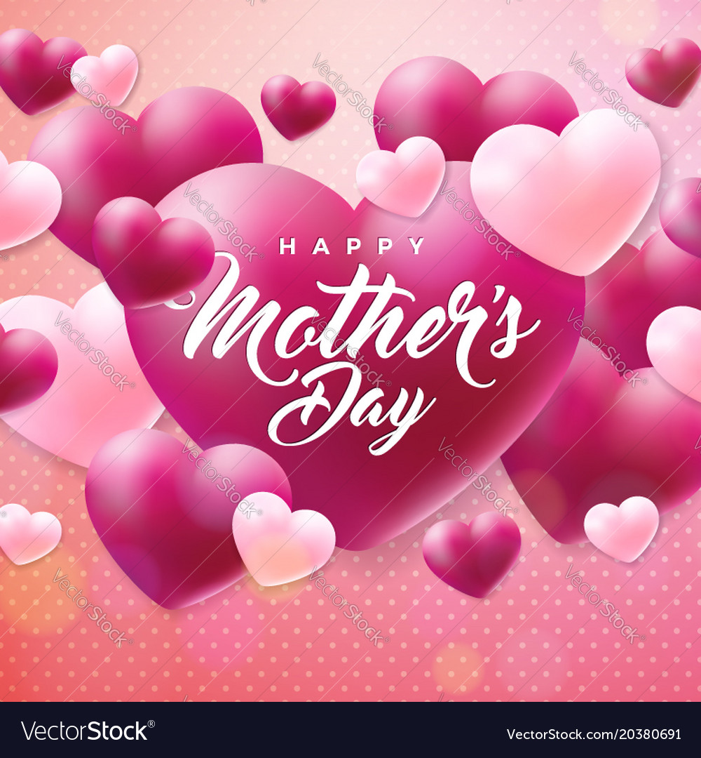 Happy mothers day greeting card with hearth on vector image happy mothers day greeting card with hearth on vector image kristyandbryce Image collections