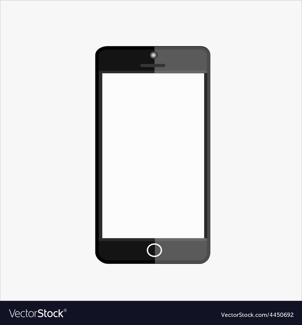 Black smart mobile phone vector image