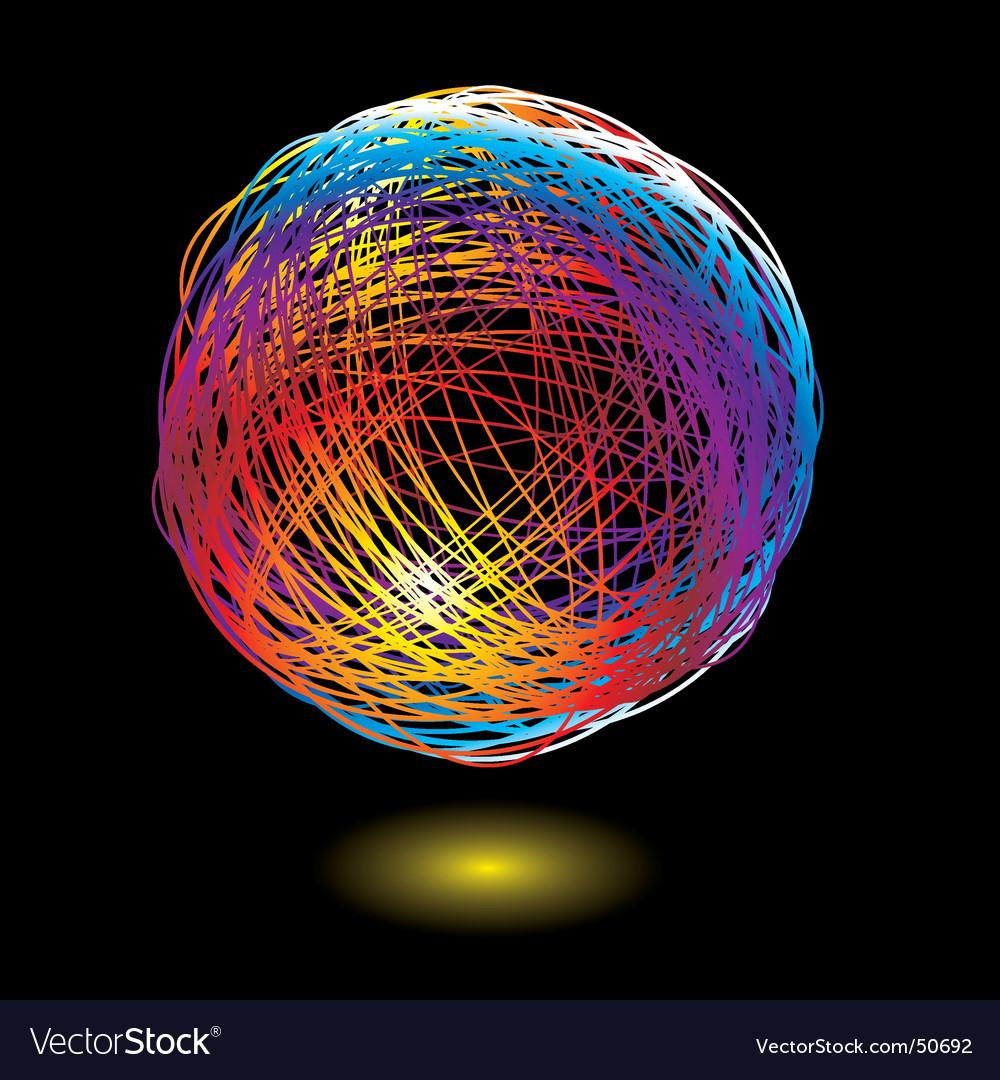 Rainbow scribble vector image