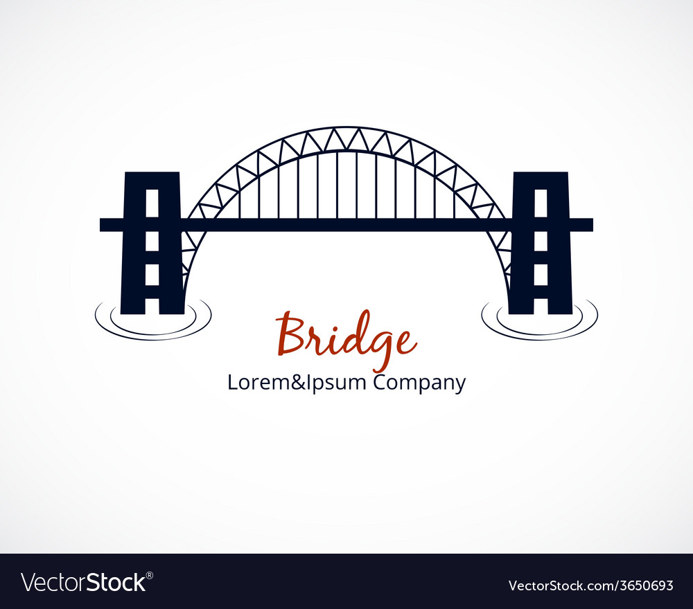 Bridge Logo Graphic Design on White Background vector image