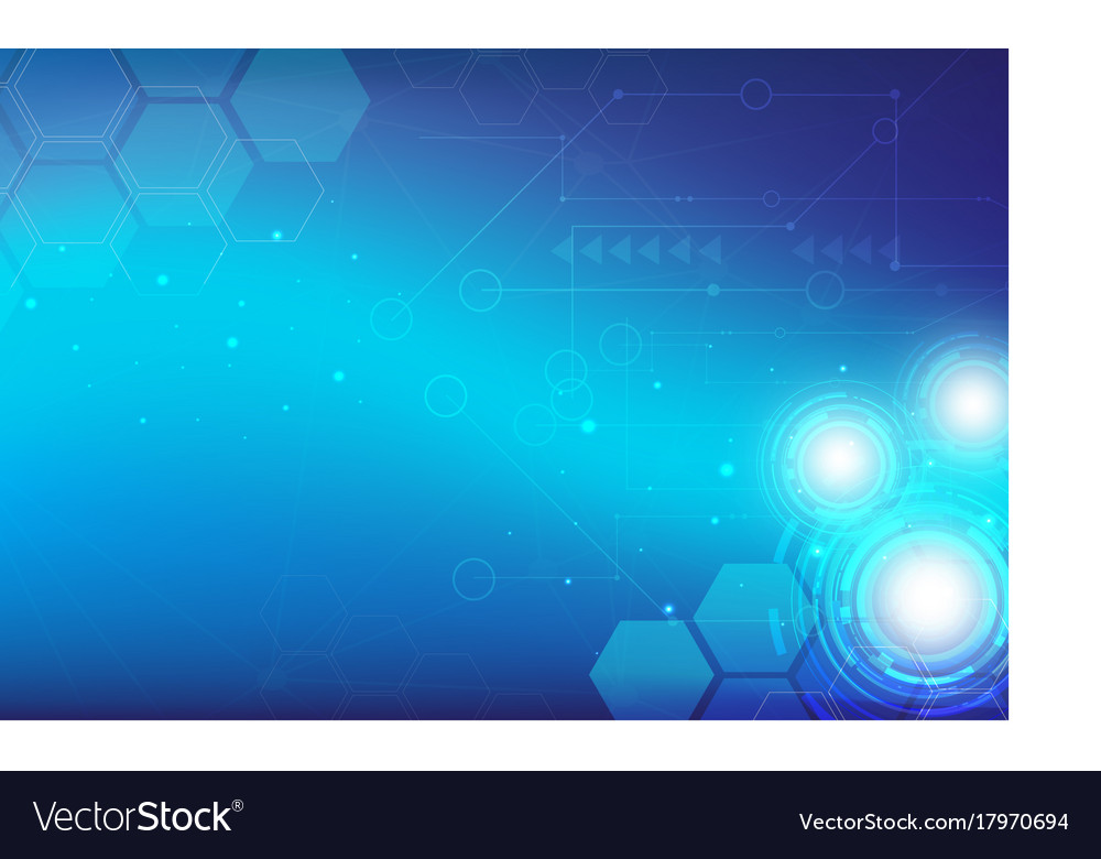 Abstract digital technology with blue gears vector image