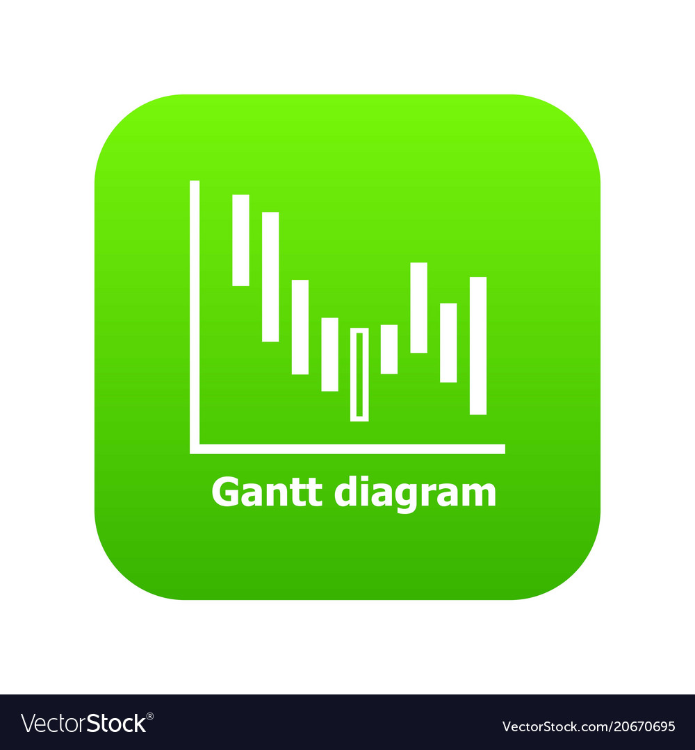 Gantt diagram icon green royalty free vector image gantt diagram icon green vector image ccuart Images