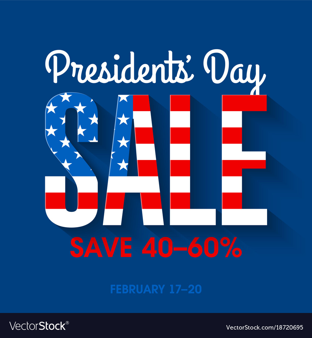Presidents day sale banner vector image
