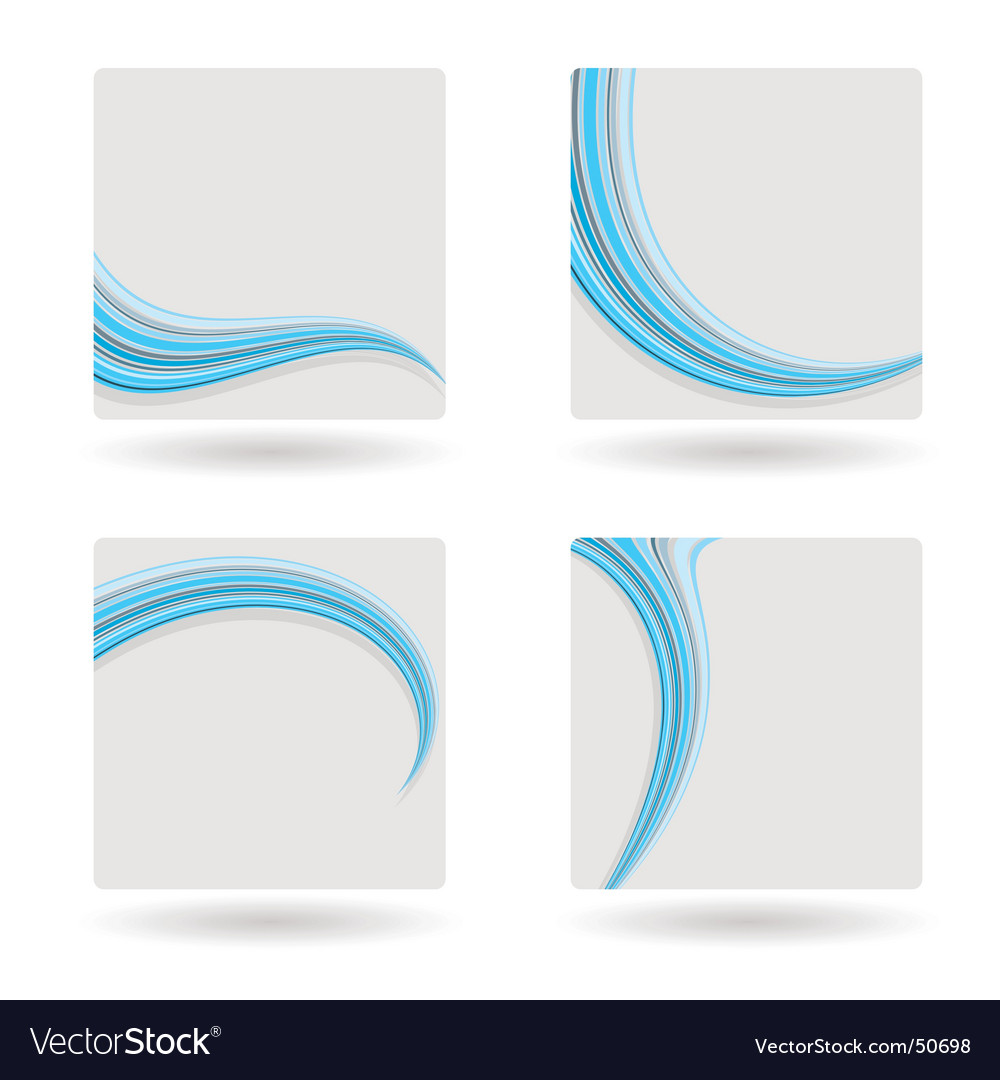 Template blue swish vector image