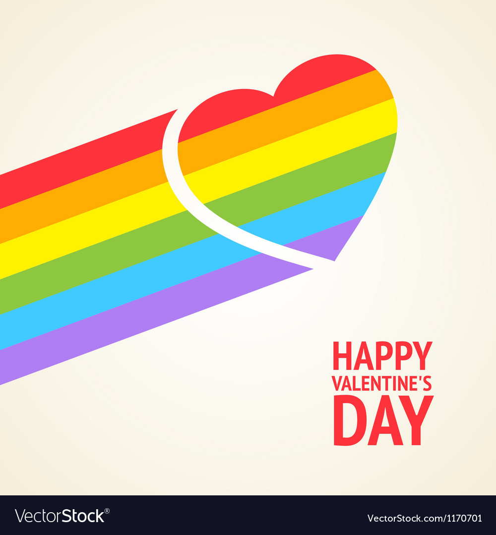 Rainbow heart vector image