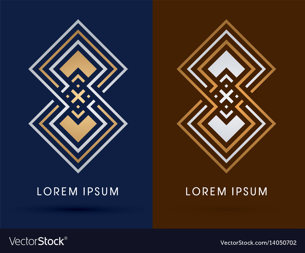 Luxury abstract square vector image