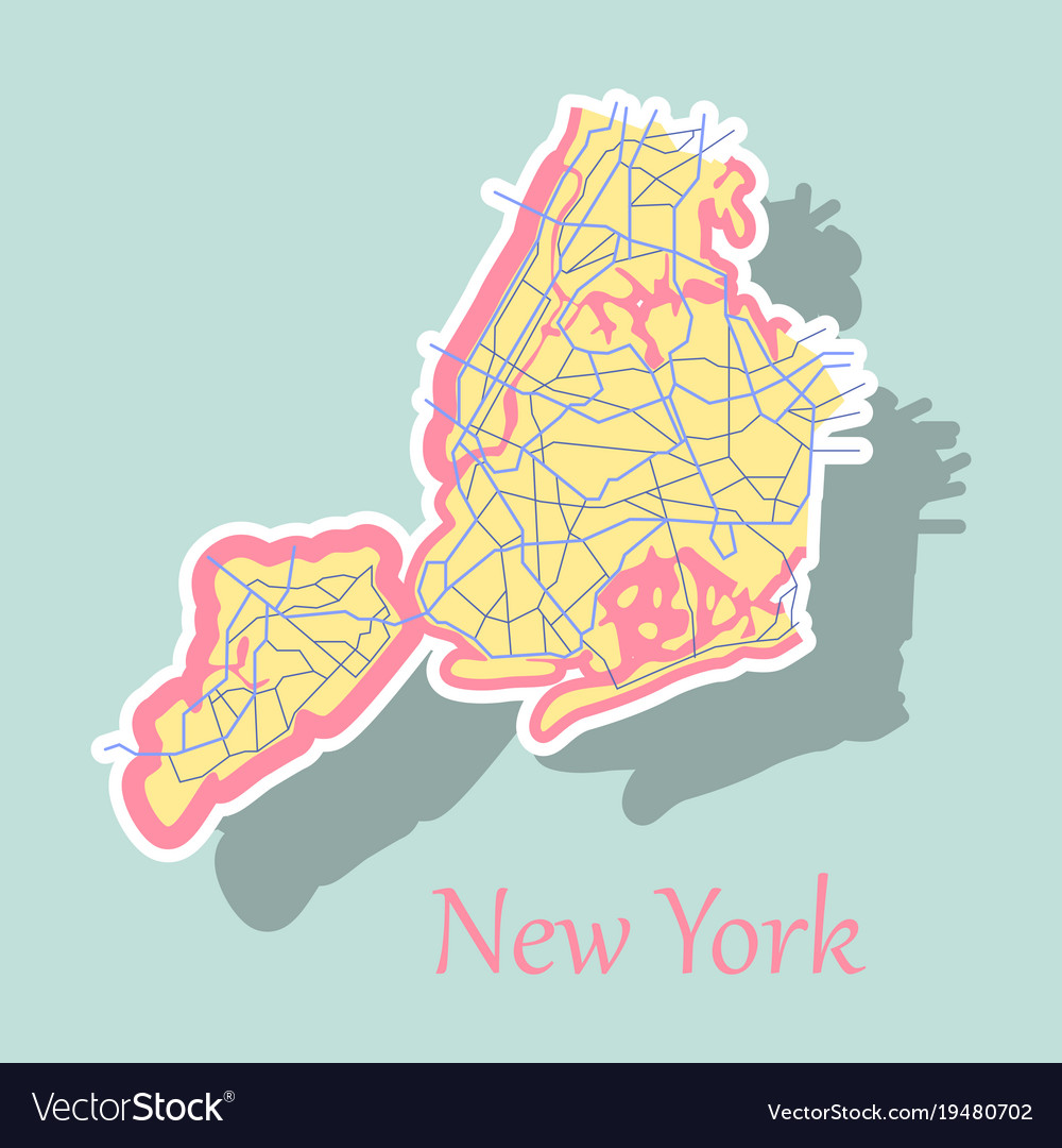 New york city map sticker royalty free vector image new york city map sticker vector image gumiabroncs Images