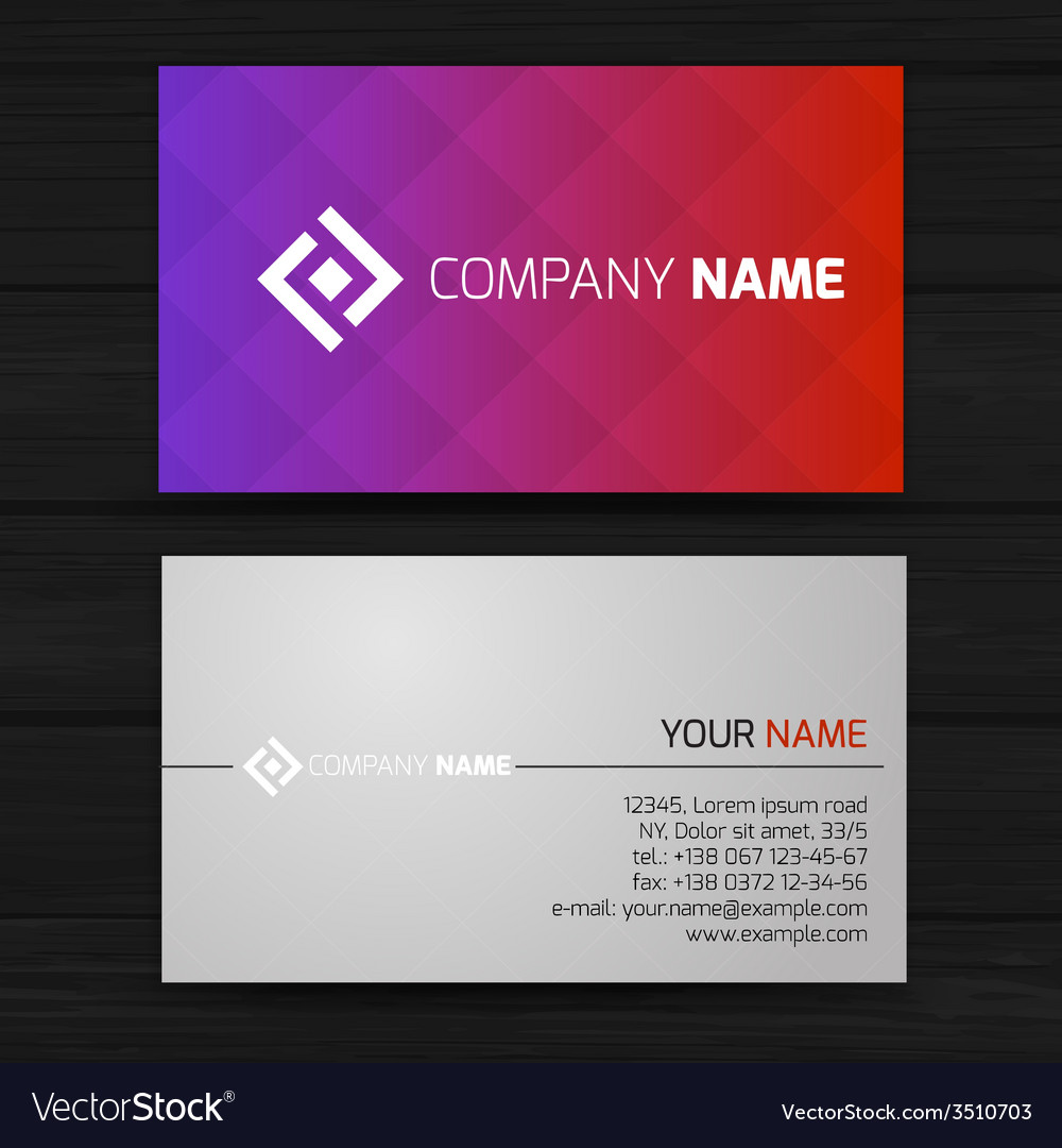 Abstract creative business cards Royalty Free Vector Image