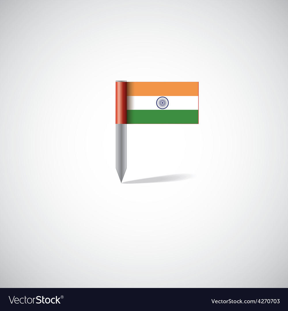 India flag pin vector image