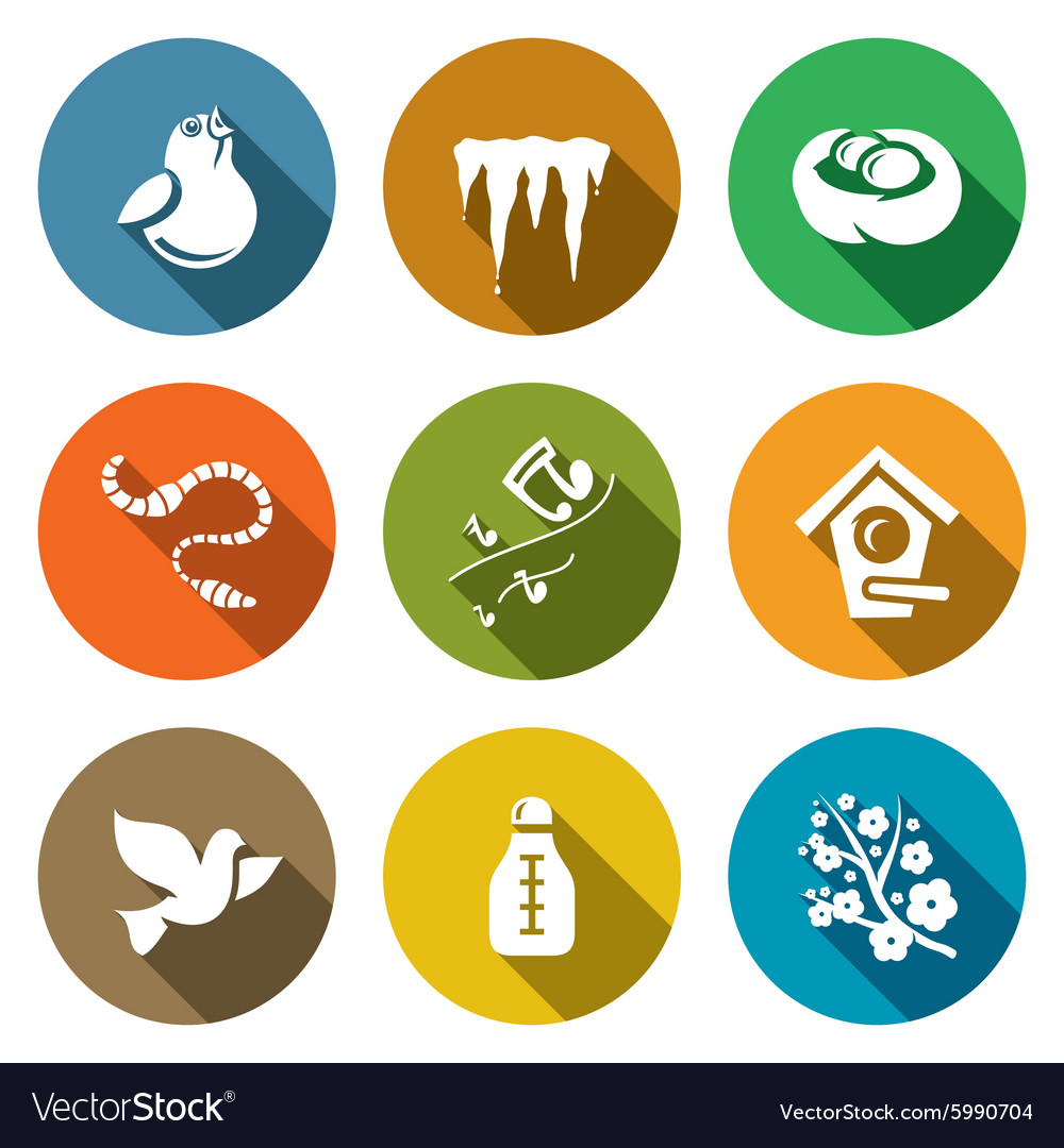 Spring mood Icons Set vector image