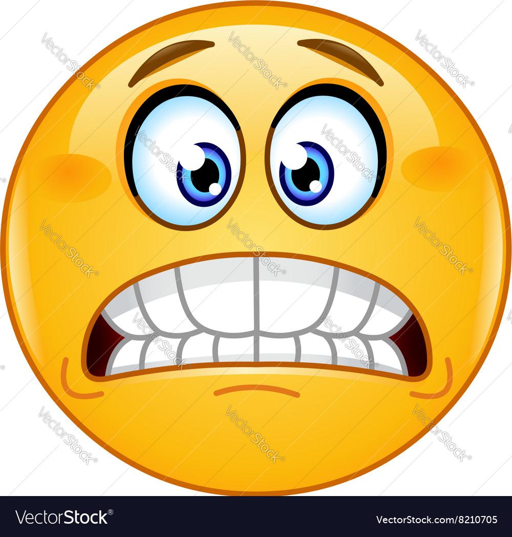Grimacing emoticon vector image