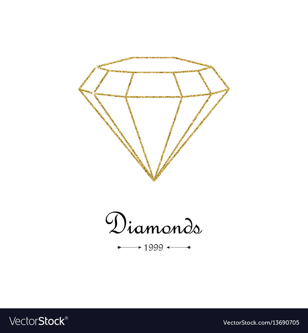 Gemstone gold pattern vector image