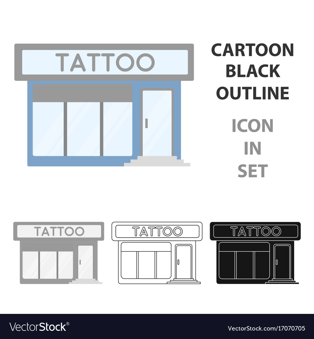 Tattoo salon building parlor icon cartoon single vector image