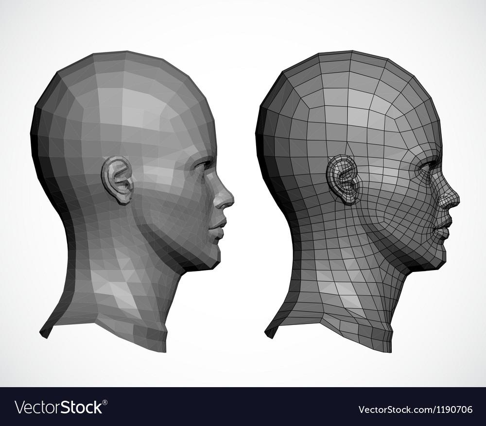 Female head in profile vector image