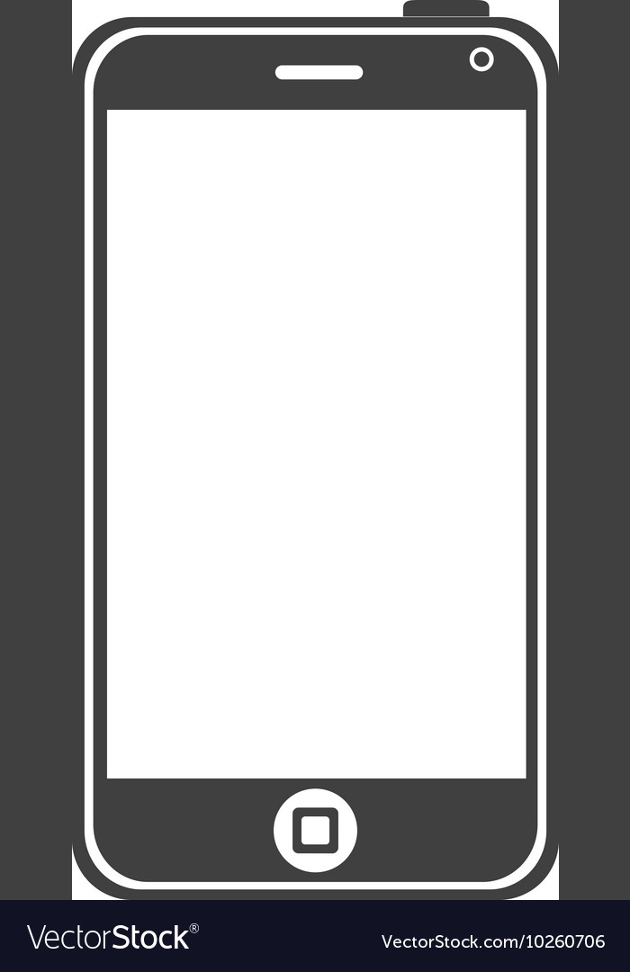 Smartphone screen mobile vector image