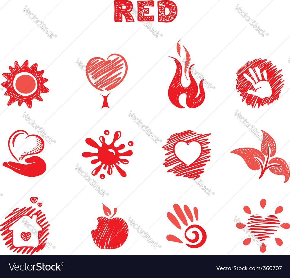 Red theme Vector Image