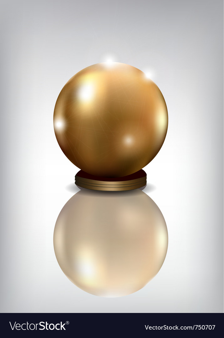 Golden sphere award vector image