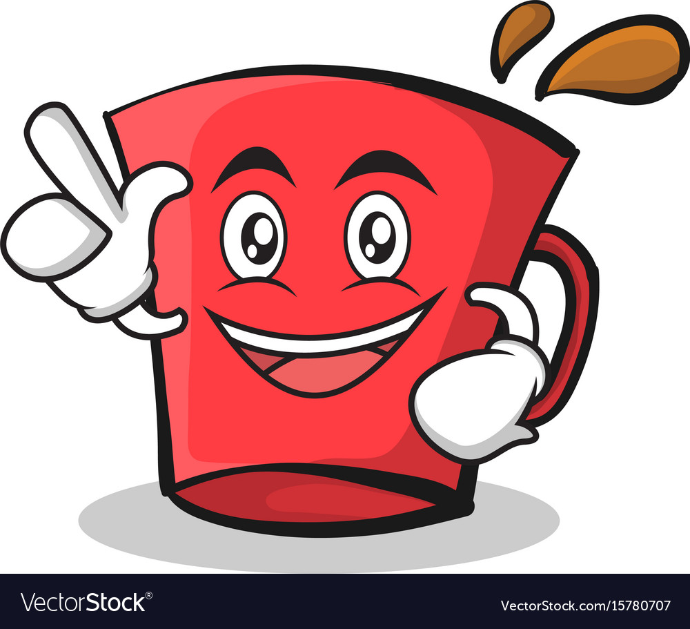 Have an idea red glass character cartoon vector image