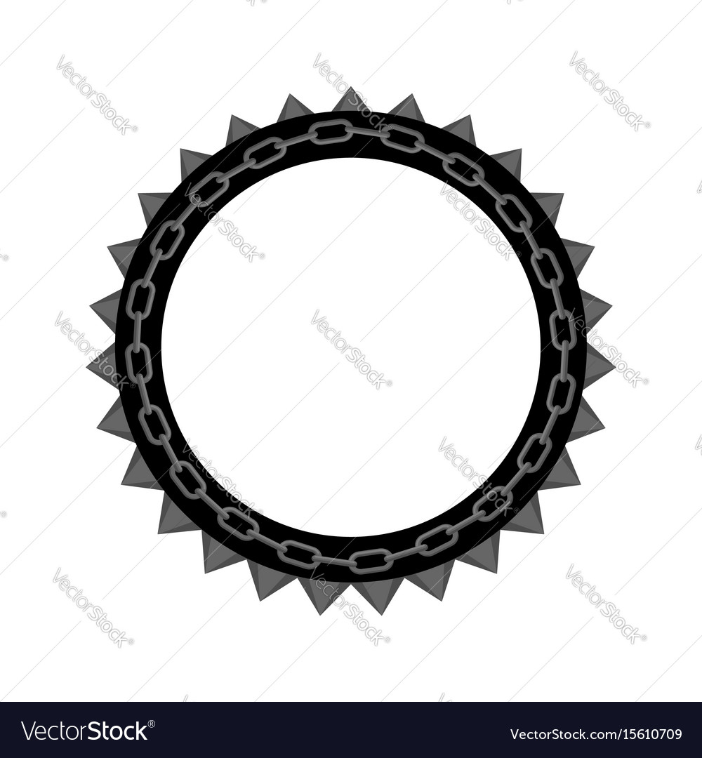 Chain round frame isolated collar for aggressive vector image