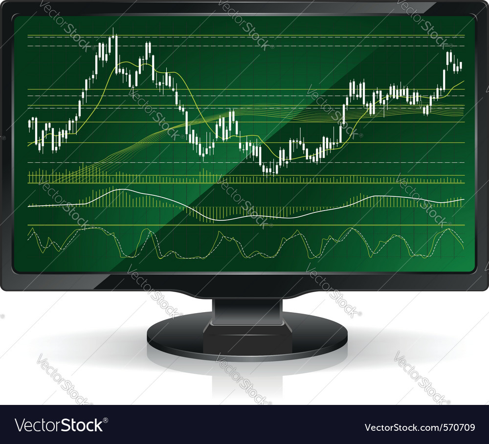 Financial stock chart vector image