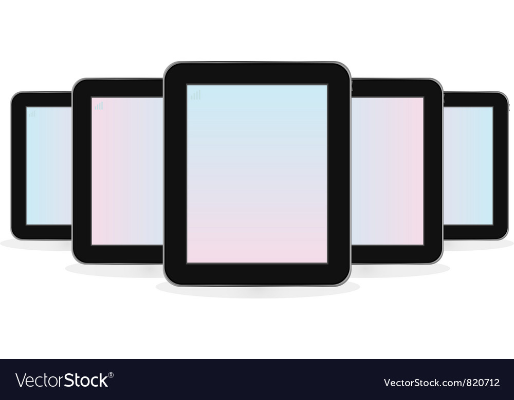Digital tablet computer vector image
