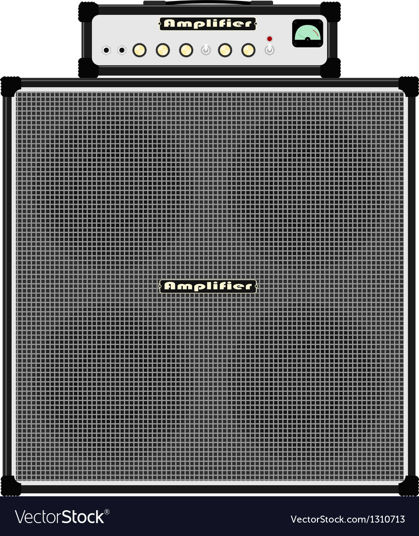 Bass guitar amplifier vector image