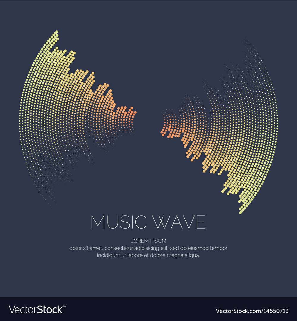 Poster of the sound wave vector image