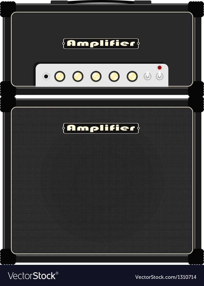 Guitar amplifier vector image