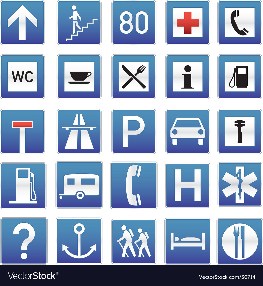 Eye-candy traffic signs vector image