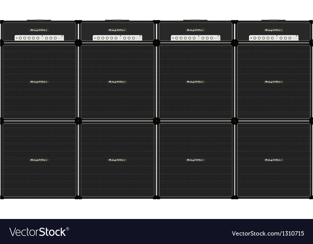 Guitar stack vector image