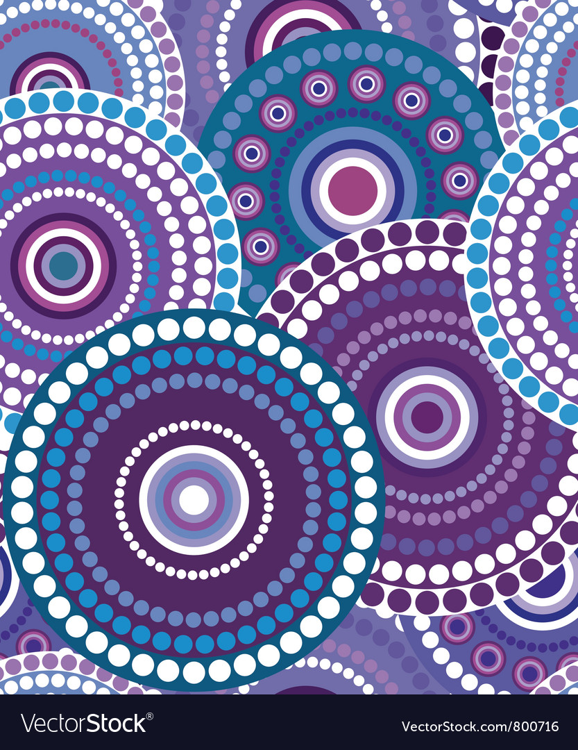 Seamless retro circle texture 3 vector image
