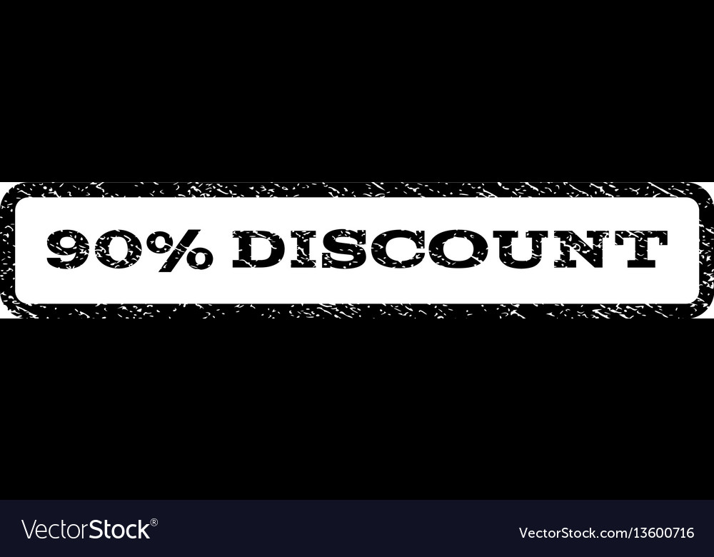 90 percent discount watermark stamp vector image