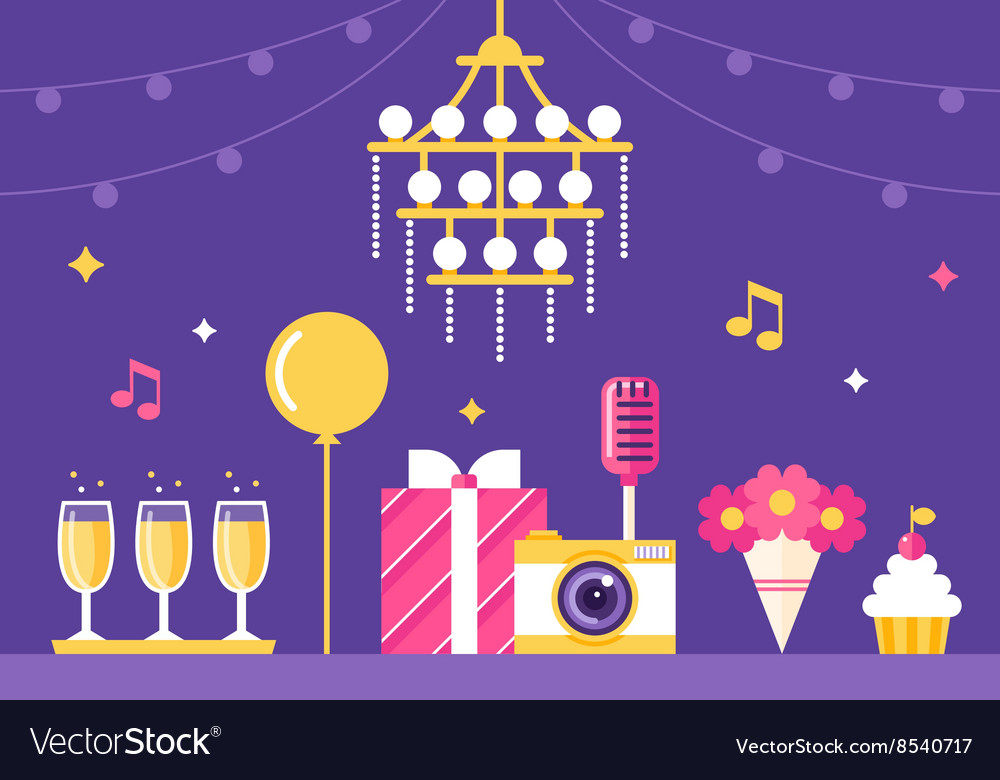 Event Party and Celebration vector image