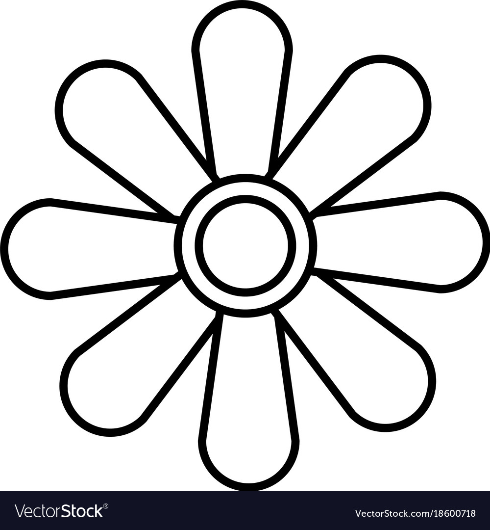 Beautiful flower symbol royalty free vector image beautiful flower symbol vector image biocorpaavc Choice Image
