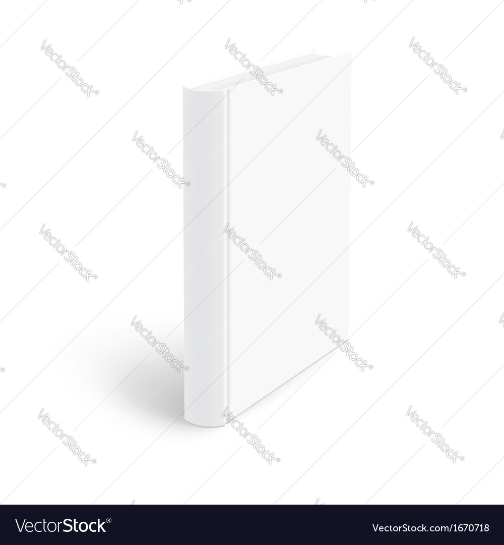 Blank vertical book template vector image