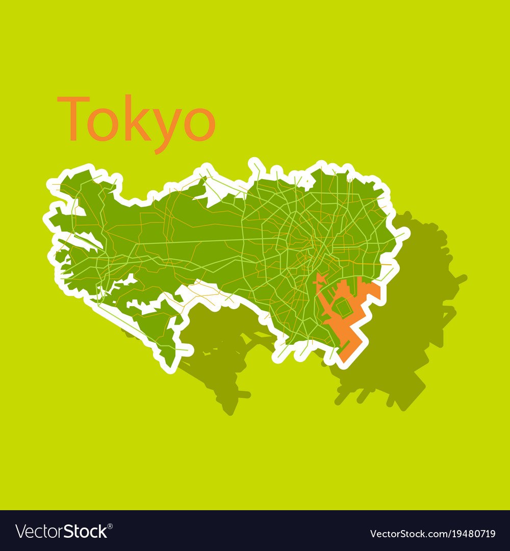 Japan tokyo top view map showing streets design vector image gumiabroncs Choice Image