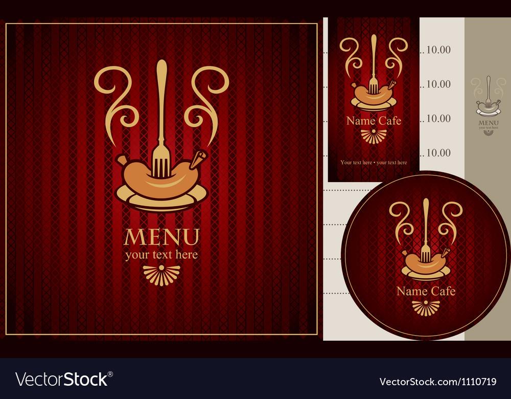 Sausage fork vector image