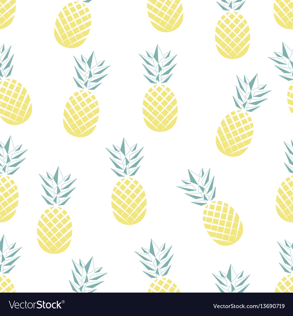 Seamless pineapple pattern in vector image