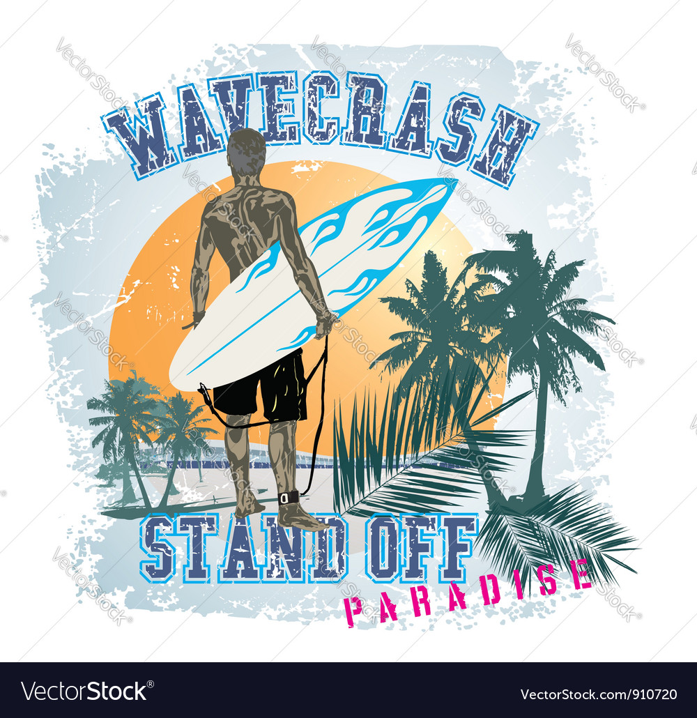 STAND OFF WAVE vector image
