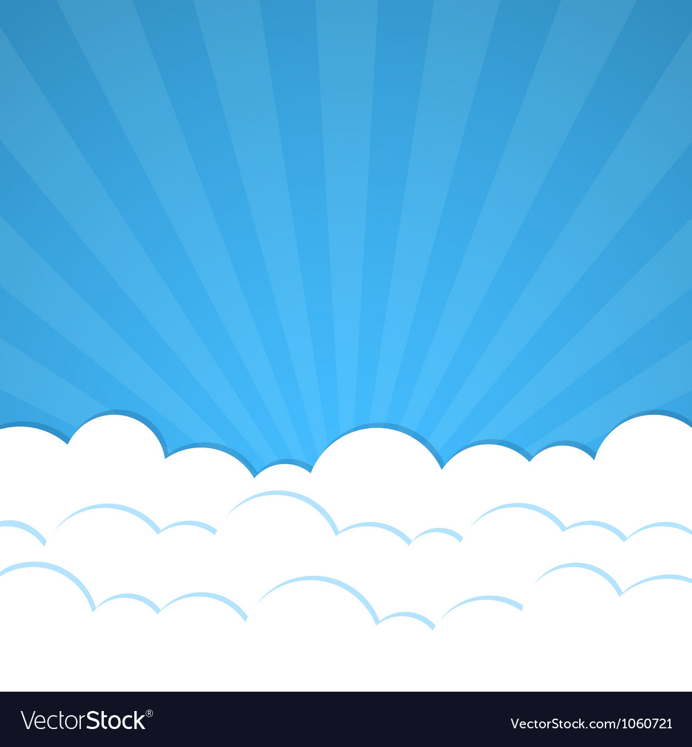 Rays and clouds vector image