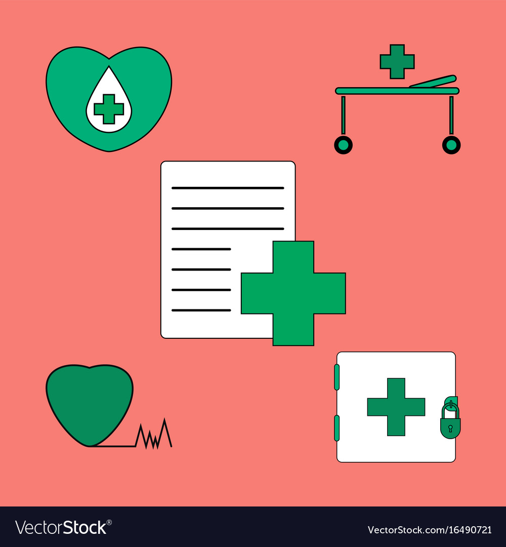 Collection of icons and medical icons