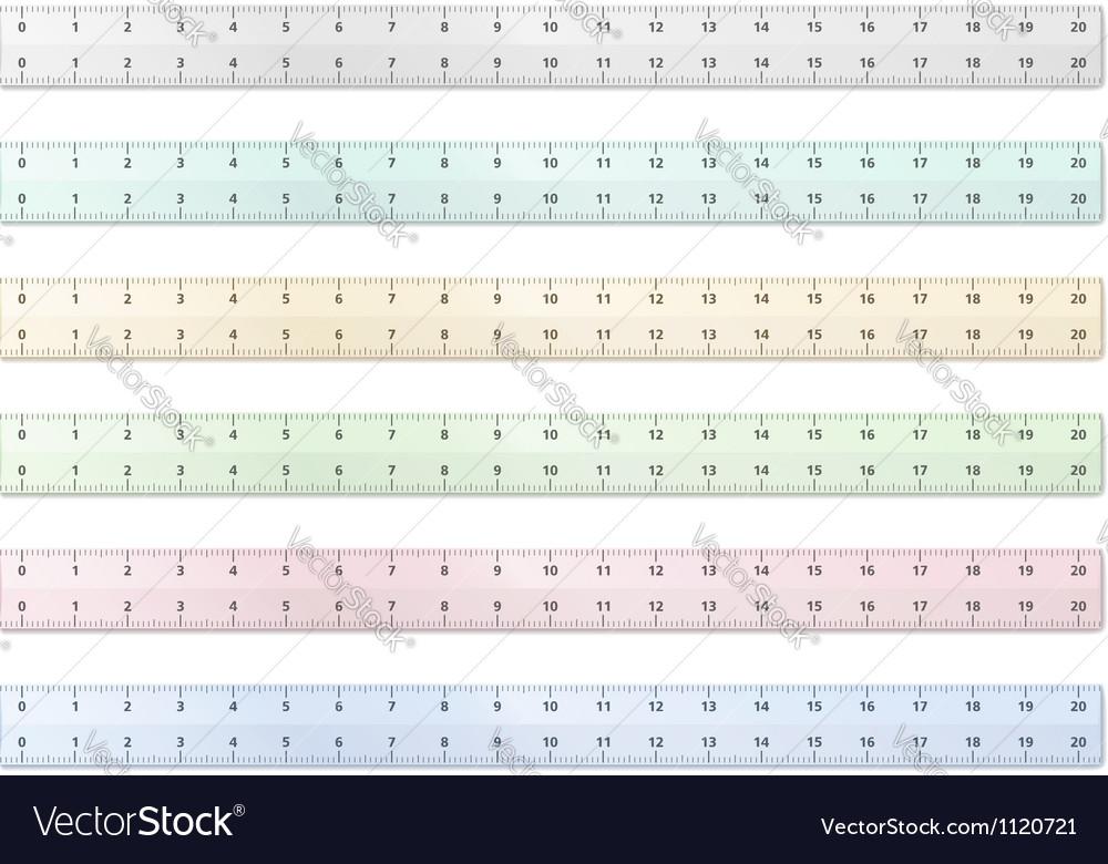 Transparent plastic rulers vector image