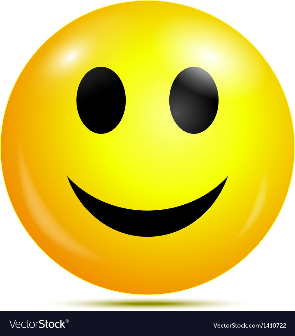 Happy smiley vector image