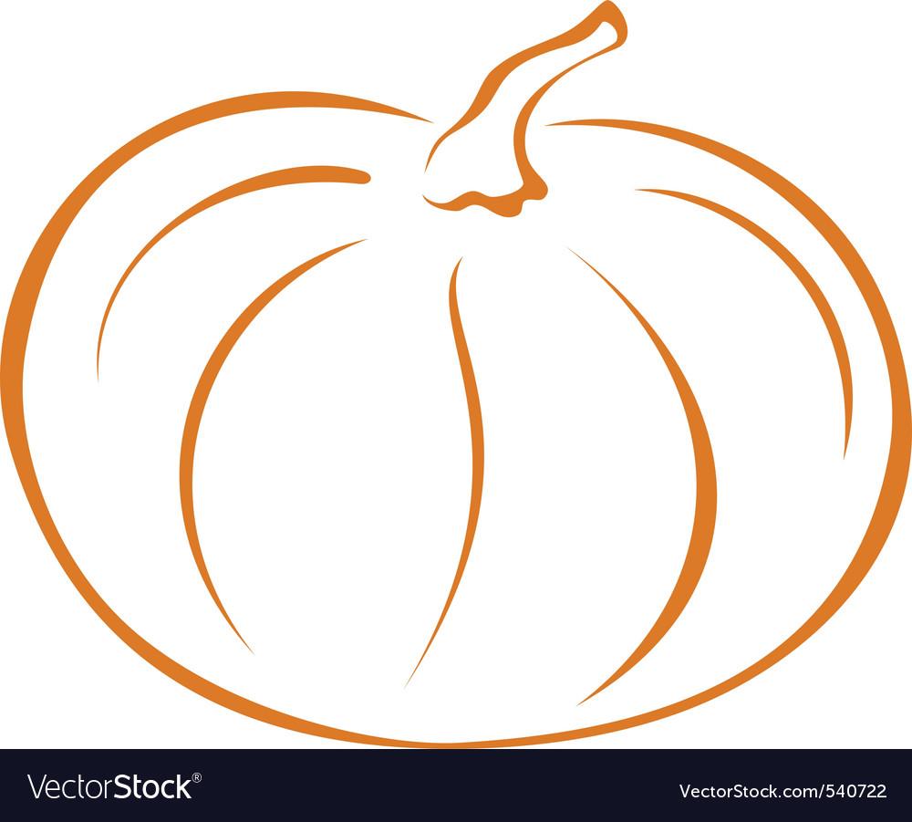 Pumpkin pictogram vector image