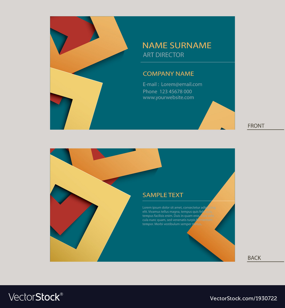 Business Name Card Template Royalty Free Vector Image - Business name card template